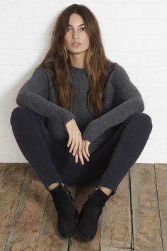 Cashmere Blend Sweater ::Cable Knit ::Velvet by Graham & Spencer