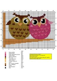 This would make a nice wedding present, personalised with names Cross Stitch Owl, Cross Stitch For Kids, Beaded Cross Stitch, Cross Stitch Animals, Cross Stitch Charts, Cross Stitching, Cross Stitch Embroidery, Modern Cross Stitch Patterns, Cross Stitch Designs
