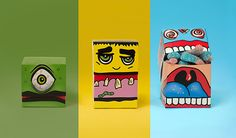 Monster Candy Boxes by Charlotte Olsen of Brandhouse Design