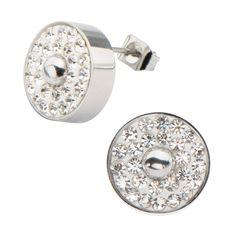 Multi Clear Pave Gem Stud Earrings | Altxorra