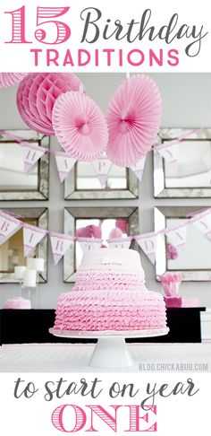"""Gorgeous """"Pretty in Pink"""" first birthday party cake Tutu Party, Birthday Party Hats, First Birthday Parties, First Birthdays, Birthday Ideas, Special Birthday, First Birthday Traditions, Birthday Decorations, Baby Girl First Birthday"""