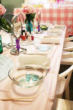 Little Girls Spa Birthday Party Ideas | Darling Darleen: Spa Party for Little Girls | Birthday Party Ideas