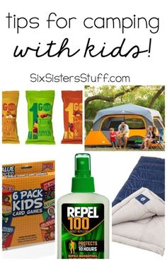 Tips For Camping With Kids from SixSistersStuff.com