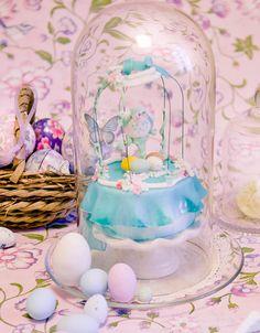 uccellino, pasqua, azzurro, pasta zucchero, uova, cake craft luna