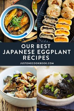Discover the deliciousness of eggplant with our best recipes! The fans' favorites include soy-glazed eggplant rice bowls, grilled eggplant with miso glaze, pork rolls with eggplants, and more. #japaneseeggplant #eggplantrecipes #asianeggplantrecipes #chineseeggplant | Easy Japanese Recipes at JustOneCookbook.com