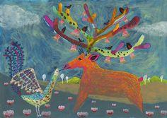 鹿の王と鳥の王 the king of a deer and a bird | Tetsuhiro Wakabayashi Illustration