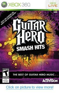 Guitar Hero Smash Hits by Activision - XBOX 360 Rated TEEN Used - excellent used condition. Comes in original case, no manual. Turn down the lights, crank up the amps and prepare to command center stage with some of the most famous AND infamous tr. Xbox 360 Video Games, Latest Video Games, Hero Games, Wii Games, Games Box, Music Games, Playstation 2, Guitar Hero, Buy Guitar