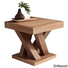 The Madero end table features a beautifully distressed driftwood finish. The base of this extraordinary table is inspired by groups of tree trunks sprouting from the earth. It gives the table an almost organic look while the clean lines remain modern.