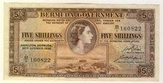 Bermuda 1952 Five Shilling XF