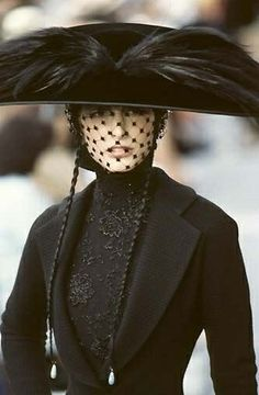 ☫ A Veiled Tale ☫ wedding, artistic and couture veil inspiration - Christian Dior Haute Couture
