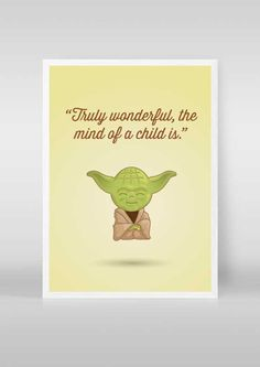 Yoda Star Wars Poster  Quote Cute Yoda Baby by stubbornlionstudio