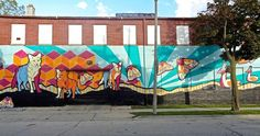 Mural located at 31st and Lisbon, it an artistic tribute to the old Milwaukee zoo.