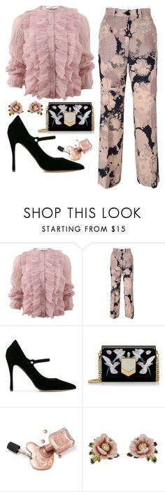 """pink"" by i-rusche ❤ liked on Polyvore featuring Givenchy, Dries Van Noten, Tabitha Simmons, Jimmy Choo and Les Néréides"