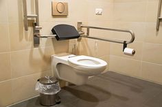 Handicap safe bathroom design and construction. JL Builders specializes in home construction and building handicap safe bathrooms for homes and businesses in NC. Ada Bathroom, Handicap Bathroom, Bathroom Plans, Bathroom Fixtures, Bathroom Interior, Bathrooms, Bathroom Ideas, Shower Chair