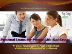 Easy Cheap Loan is a trustworthy online credit lender in the UK marketplace offering wide range of loan offers, including personal loans, bad credit loans, unsecured personal loans and many more. For detailed information, visit: http://www.easycheaploan.com/personal-loans-for-people-with-bad-credit.html