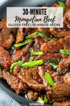 Mongolian Beef - savory and sweet and so delicious! With thinly cut steak, soy sauce, brown sugar, fresh garlic and ginger – ready in 30 minutes! Entree Recipes, Easy Dinner Recipes, Asian Recipes, Cooking Recipes, Steak Dinner Recipes, Dinner Ideas, Steak Dinners, Beef Shoulder Steak, Restaurant Recipes