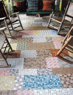 Patchwork tiles are having a moment as this year's kitsch home styling steps up…