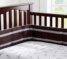 I love the Sock Monkey Crib Sheeting on potterybarnkids.com