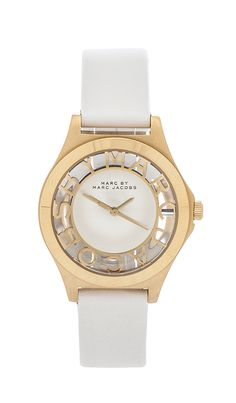 Marc by Marc Jacobs Henry Skeleton in White & Gold | REVOLVE