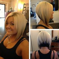 inverted bob hairstyles with fringe - Google Search