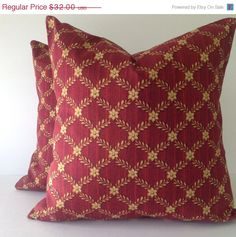SALE Maroon and yellowSet of TWO by TwistedBobbinDesigns on Etsy