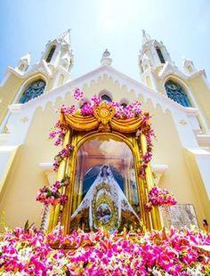 Homenaje a La Virgen del Valle, La Asunción, Nueva Esparta, Venezuela, patrona de los pescadores y de la Armada Bolivariana de Venezuela