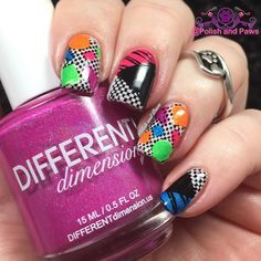 The 80's called they want their nails back! For Day 6 of #clairestelle8feb challenge 'A Decade you Love' For this look I made reverse stamping decals using the @moyou_london Time Traveler Back to the 80's stamping plate and the @differentdimensionus Back to the 80's 2.0 Neon collection. They are very Trapper Keeper-ish.   #nailpolish #nails #nailswatches #polishaddict #nailblogger #mani #nailsofinstagram #polishaholic #nailaccount #prettynails #nailsoftheday #instanails #nailart #nailpromote…