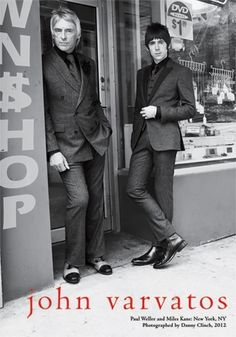 """John Varvartos used the """"Modfather"""" of British Rock Paul Weller and Danny Kane for his 2012 Ad campaign. Don't miss the new collection from John Varvatos tonight on Men's Fashion Insider on OUTtv. 1960s Fashion Mens, Mod Fashion, John Varvatos, The Style Council, Mod Look, Le Concert, Paul Weller, Charming Man, Northern Soul"""