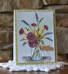 Pickled Paper Designs: Fragrant Bouquet - Curtain Call Challenge