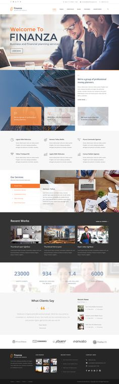 Finanza - Business & Financial WordPress Theme #webdesign #website Download: http://themeforest.net/item/finanza-business-financial-wordpress-theme/12349206?ref=ksioks