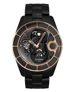 Beautiful and clever, too: the Chanel J12 Retrograde Mysterieuse Tourbillon