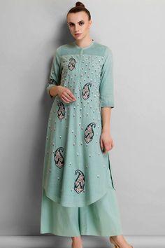 AM PM indian designer online embroidered kurta sets