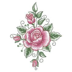 LSketched Roses 02(Sm) Free Machine Embroidery Designs, Hand Embroidery Patterns, Custom Embroidery, Embroidery Stitches, Cutwork, Embroidery Techniques, Vintage Quilts, Rose Design, Trees To Plant