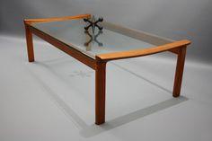 MID Century Large Coffee Table Tessa T21 Blackwood Glass Retro Vintage Danish era 360 Modern Furniture