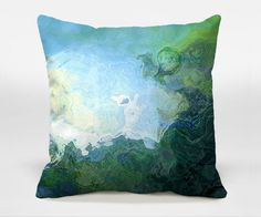 Decorative throw pillow cover with abstract art 16x16 by ArtPillow, $30.00
