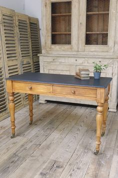 French antique painted table