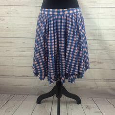 "Marc Jacobs plaid skirt Marc Jacobs plaid skirt Sz L 100% cotton  L 18"" Marc by Marc Jacobs Skirts Circle & Skater"
