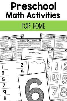 Preschool Math at Home Tripwire - without email mention Math Sorting Activities, Preschool Math Games, Toddler Learning Activities, Preschool Classroom, Preschool Worksheets, Before Kindergarten, Kindergarten Math, Teaching Reading, Teaching Math
