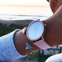 THE NOOSA at Sunset. Women's watch style. Australian brand. Rose Gold and Blush.