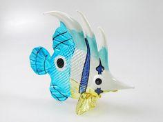 Underwater Handicraft MINIATURE HAND BLOWN GLASS Fish FIGURINE Collection # 130