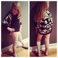 Black and White Aztec Cardigan // toddler by busyspinningthread