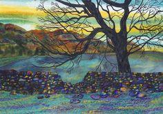 Art Print: Wonder wall   A3 landscape print by ElmGalleryArtPrints