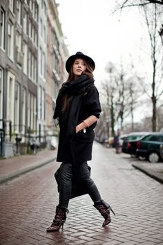 17 winter street style snaps from around the world! Photo by Christian Vierig