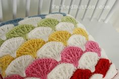Felted Button - Colorful Crochet Patterns: ::Paintbrush Pillow Cover & Afghan Pattern::