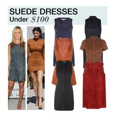 """""""Under $100: Suede Dress"""" by polyvore-editorial ❤ liked on Polyvore featuring Glamorous, Topshop, River Island, Miss Selfridge, Zara, under100 and suededress"""
