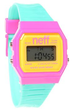 NEFF Watch Flava in Pink and Cyan