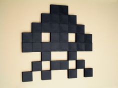 Mural de Pared Space Invaders