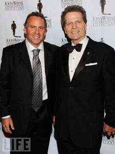 Ethan & Patrick Wayne -- John Wayne's Sons; Patrick Now Chairs The John Wayne Cancer Institute