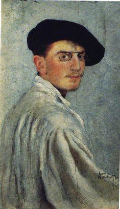 "* Leon Samoilovitch Bakst *  Auto-Retrato. (aka ""Lev Khaim Izrailevitch"" = ""Lev Samoilovitch Rosenberg""). Pintor, Cenógrafo Ilustrador russo. (28/Abril-Julho/1866 - 28/Dezembro/1924)."