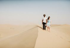 sand dunes in California, reminiscent of where they met in Africa